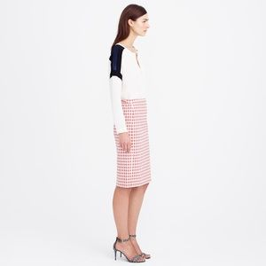 J. Crew Pink Check Jet Set Go Pencil Skirt